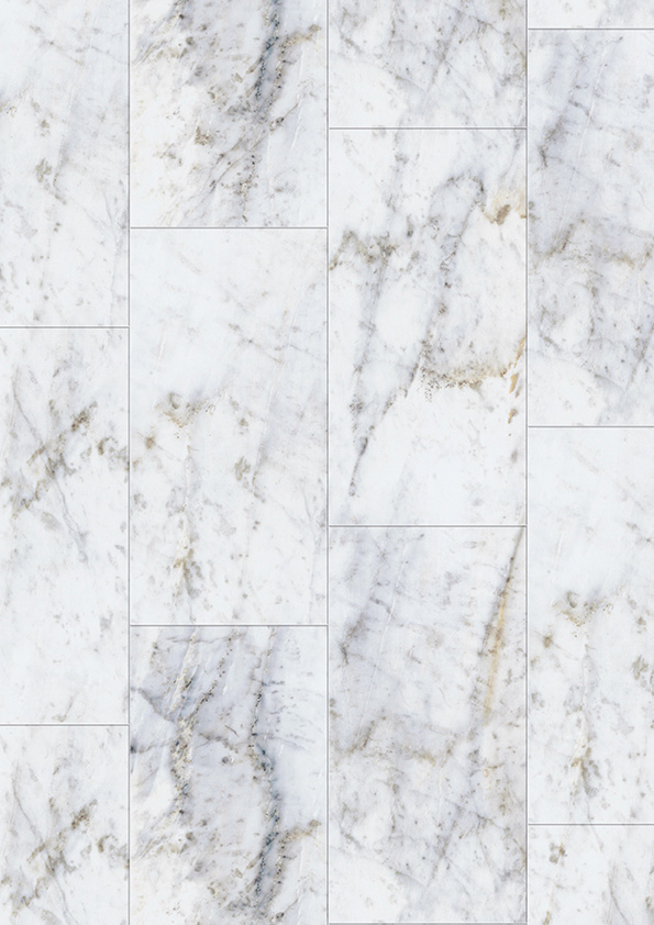 Une imitation très bluffante du marbre sur sol PVC