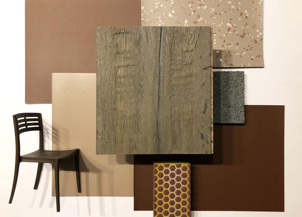 Un pêle-mêle de matériaux décoratifs dans une palette de tons beiges